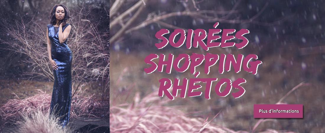 Soirée shopping rhétos