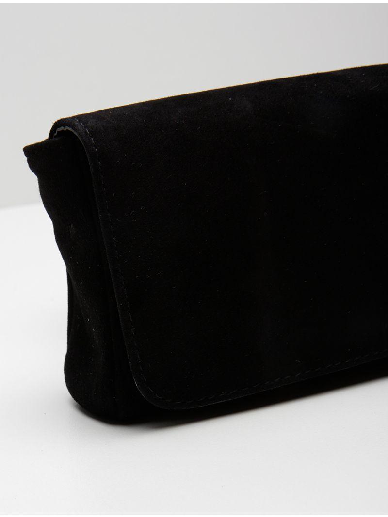 Petite pochette en daim - Noir