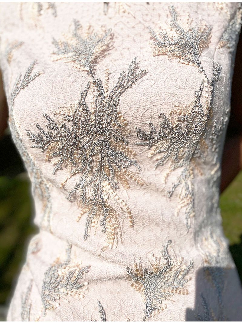 Robe midi imprimée - Rose Pâle
