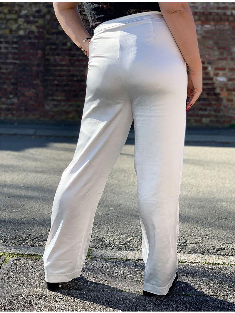 Pantalon satiné - Blanc