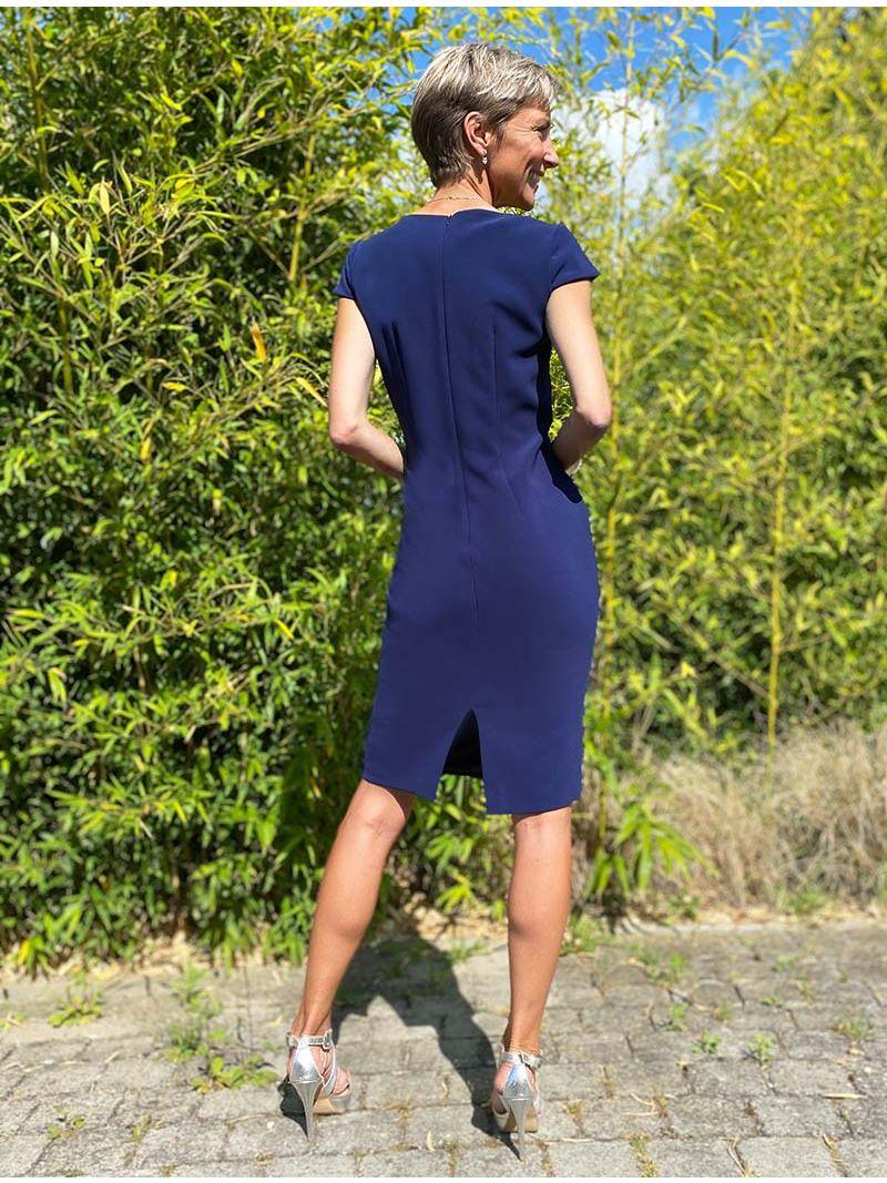 Robe manches courtes - Bleu Marine