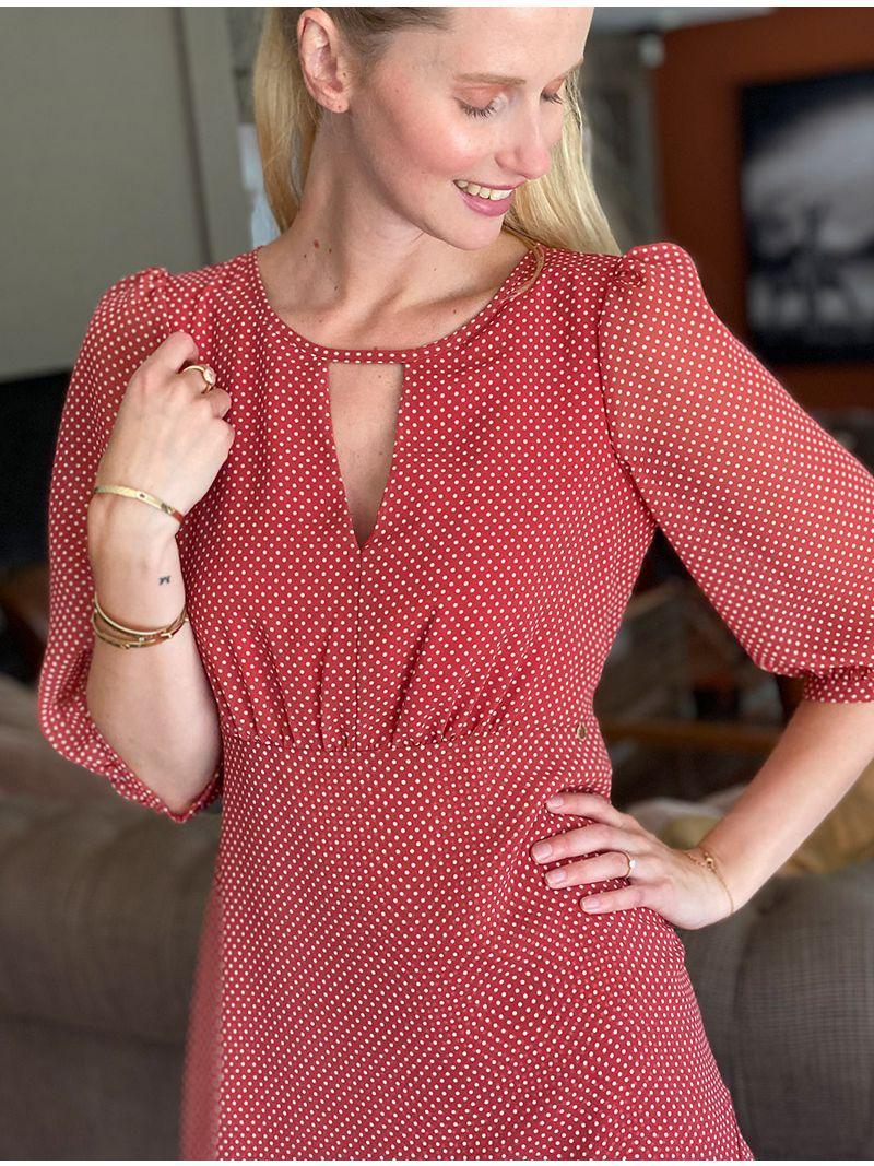 Robe courte en voile - Rouge