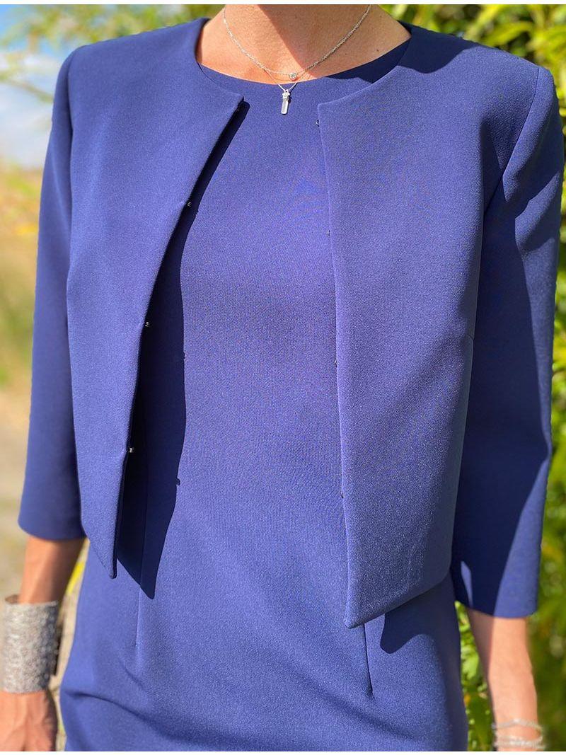Veste classique courte - Bleu Marine
