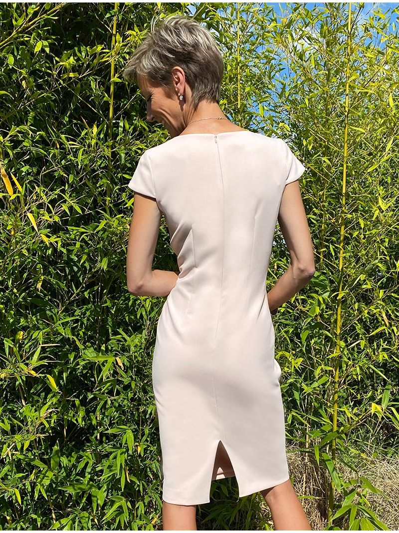 Robe manches courtes - Rose Pâle