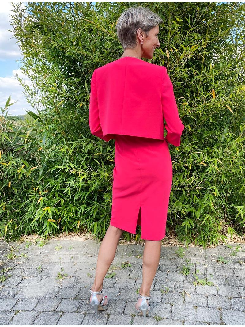 Robe manches courtes - Rose