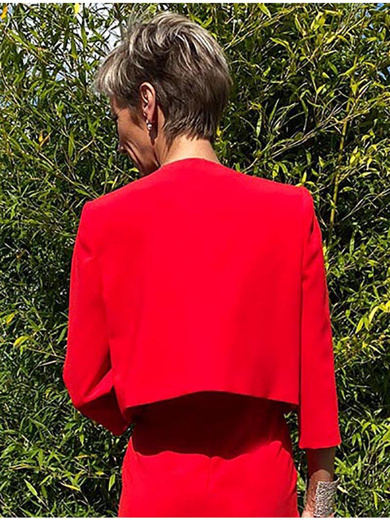 Veste classique courte - Rouge