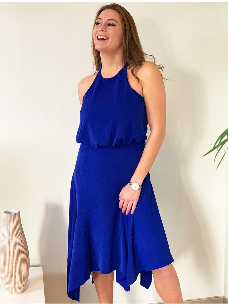 Robe de soirée mi-longue - bleu roi