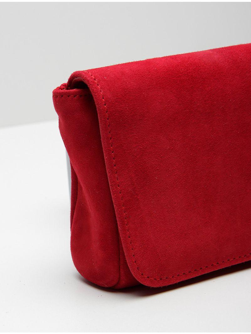 Petite pochette en daim - Rouge