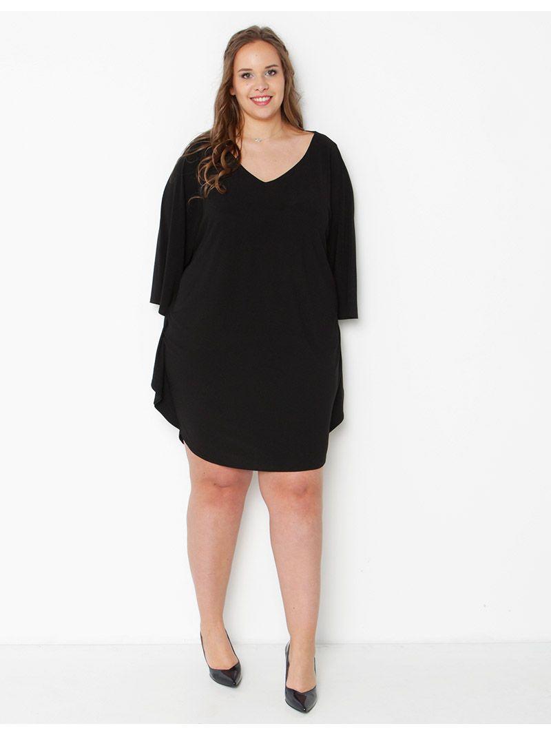 Robe courte manches amples - noir