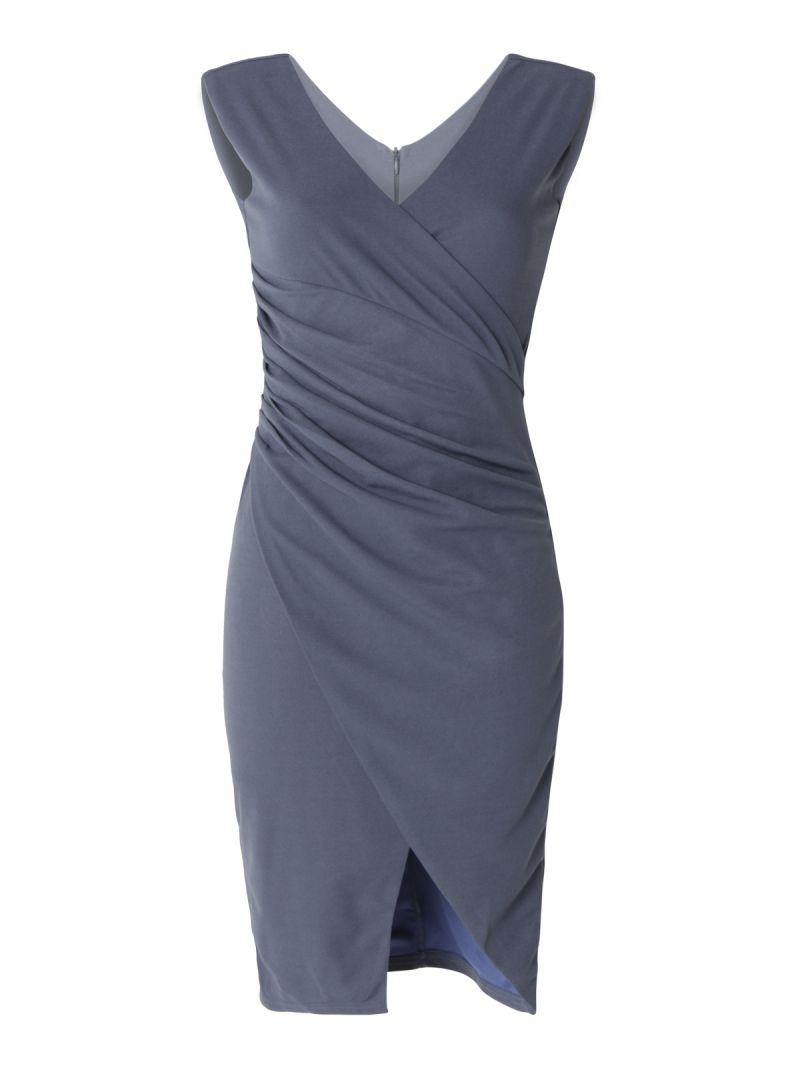 Robe asymétrique avec fente
