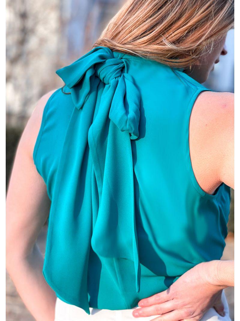 Blouse sans manche - Turquoise