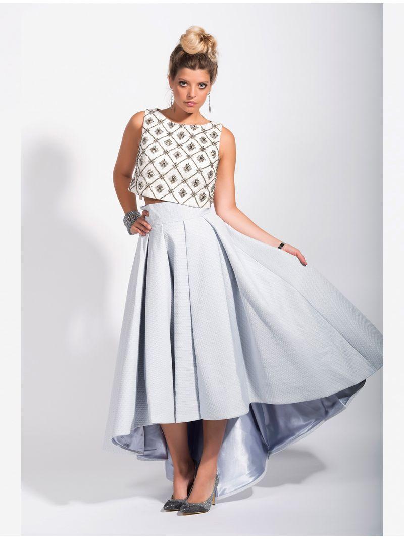 Royaume-Uni disponibilité 06e74 4670d Ensemble jupe longue taille haute et crop top perlé   Anne ...