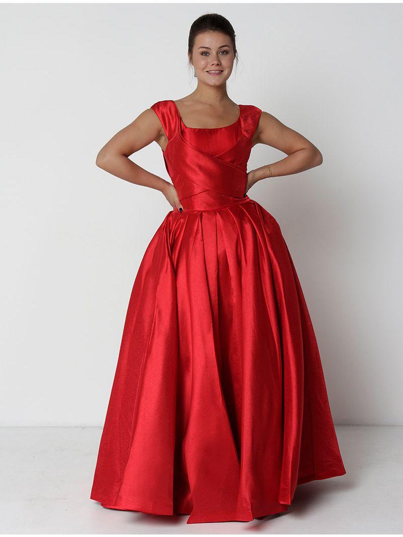 Robe de soirée dos lacé - rouge
