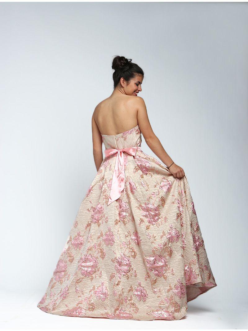 d89618b53af Robe longue bustier texturée et fleurie