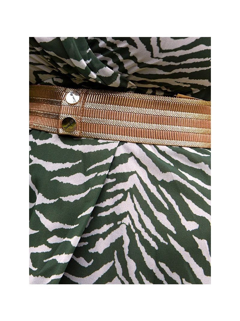 Robe longue à imprimés - Vert