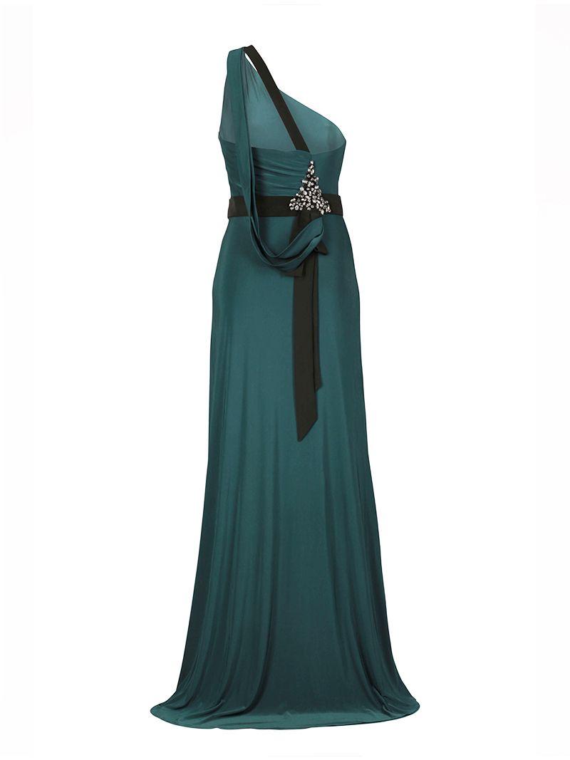 Robe longue asymétrique avec fente