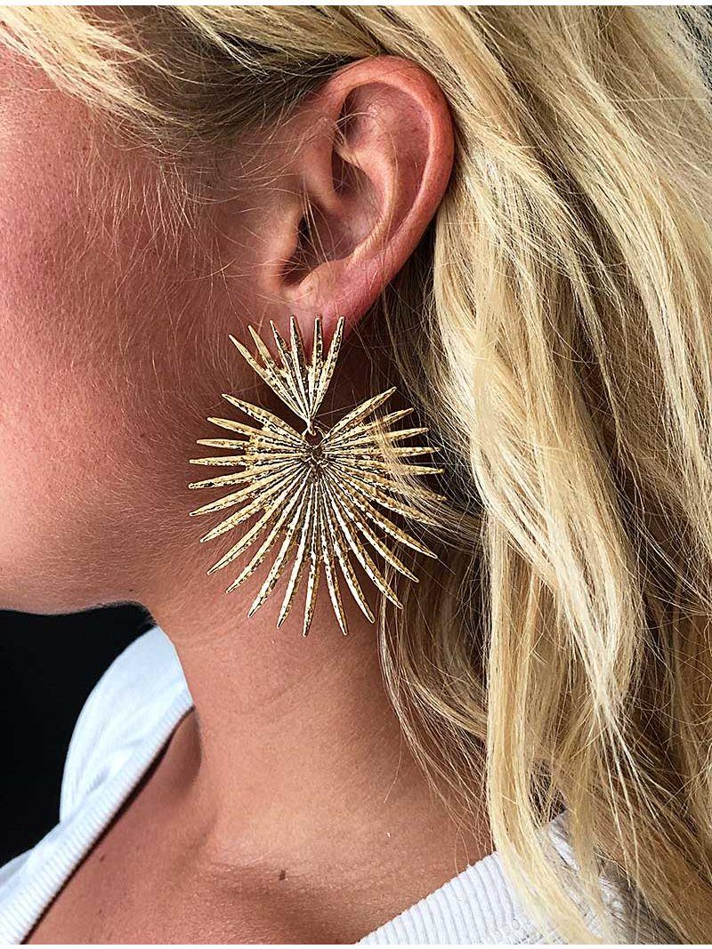 Boucles d'oreilles Palmier - Doré