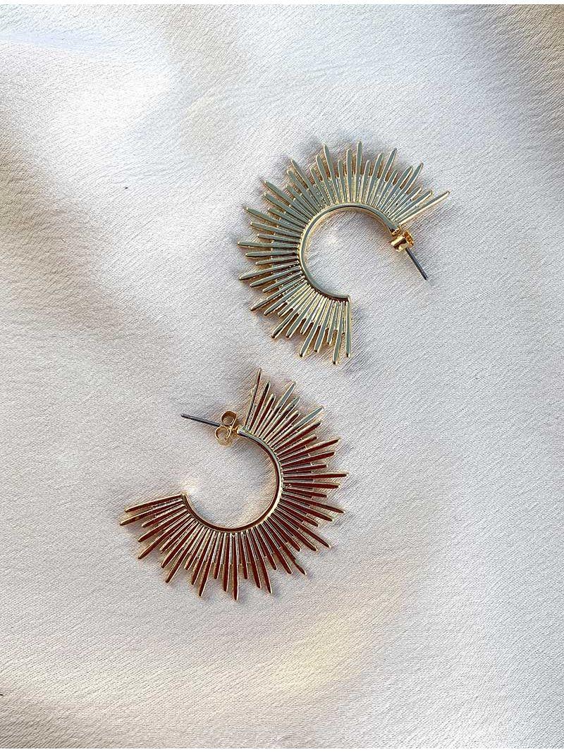 Petite créoles soleil - Doré