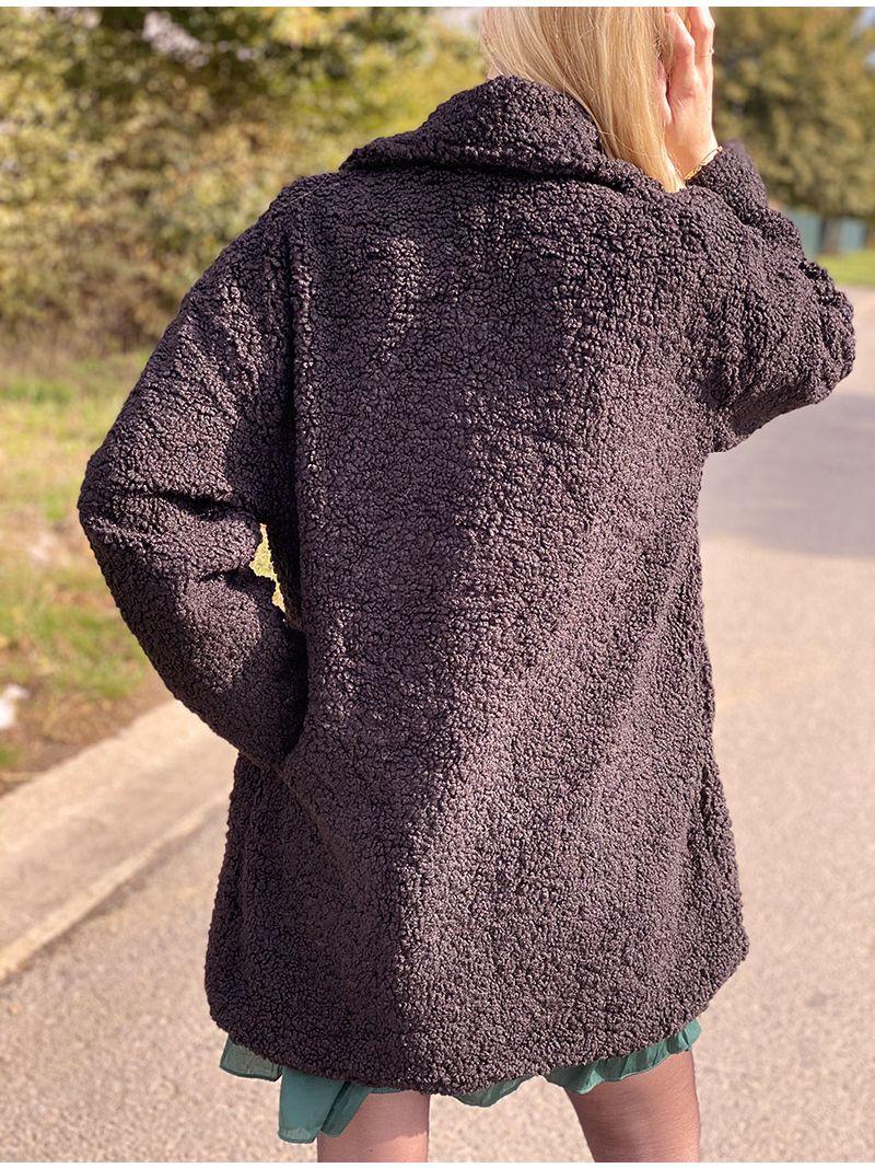 Manteau doudou - Noir