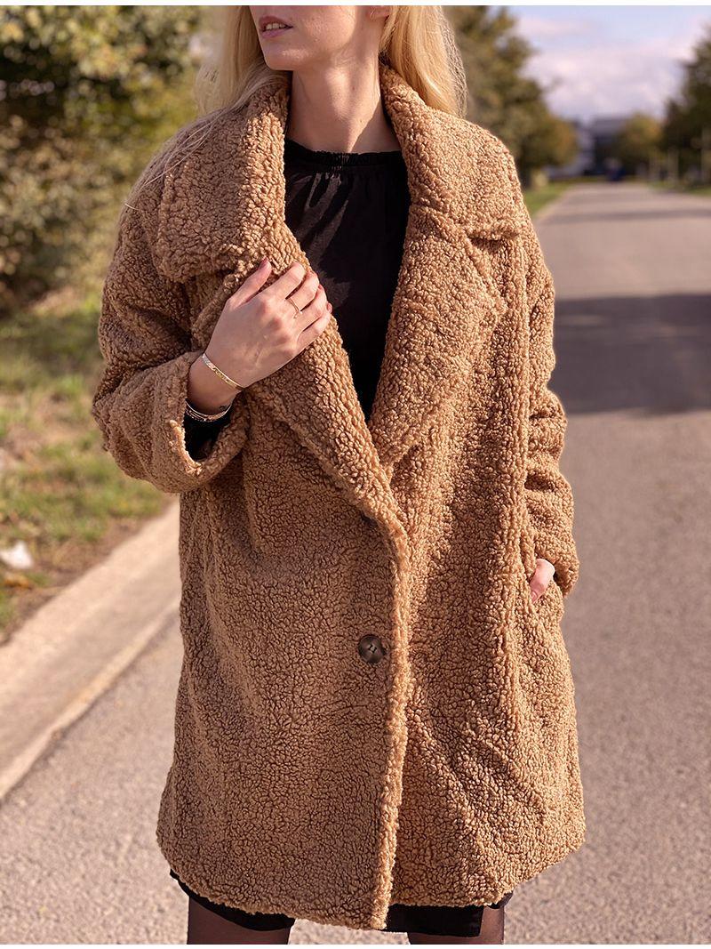 Manteau doudou - Camel
