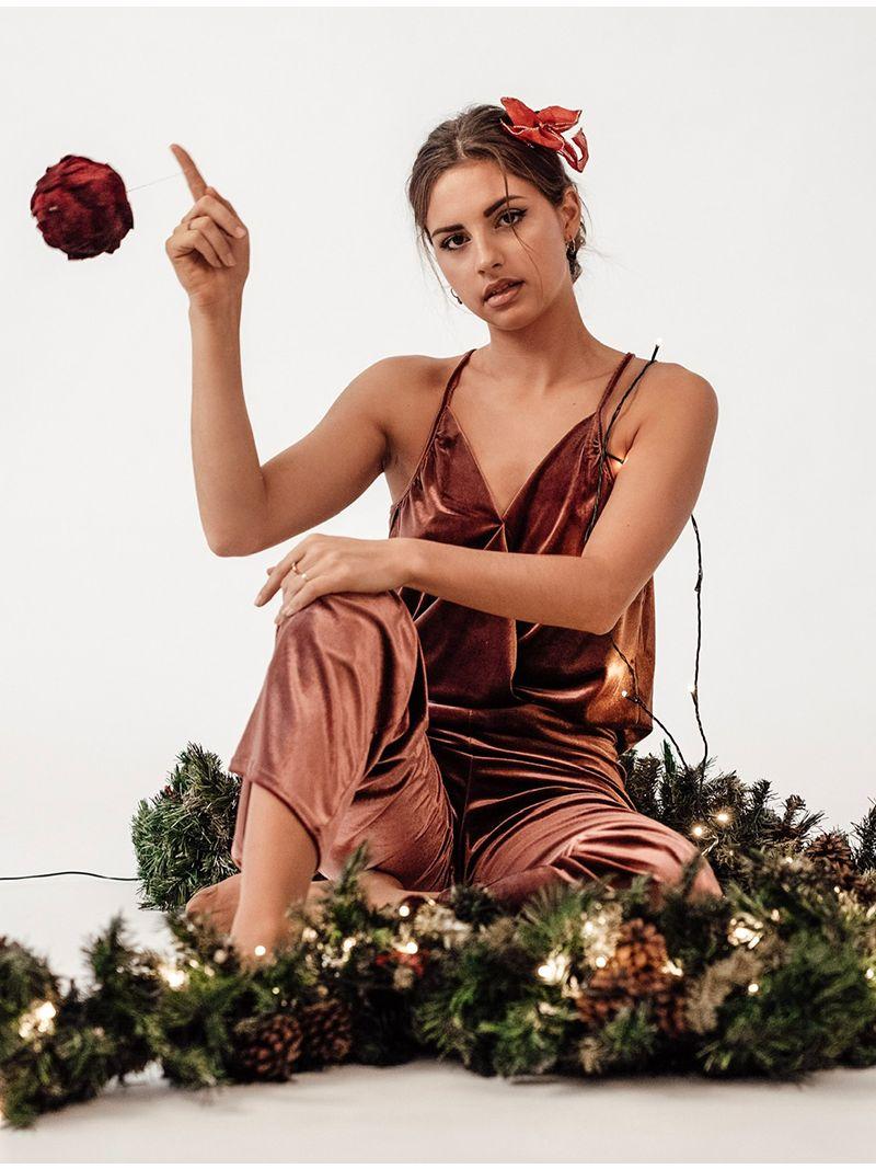 Pantalon en velours - Rose