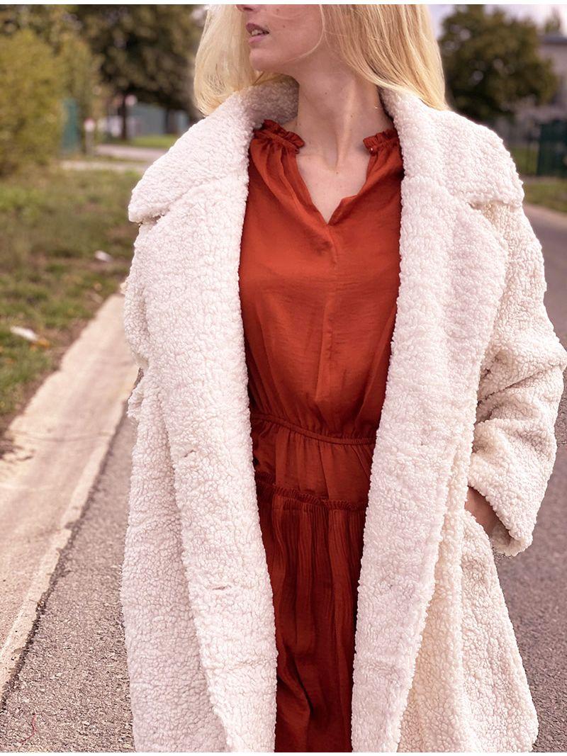 Manteau doudou - Crème