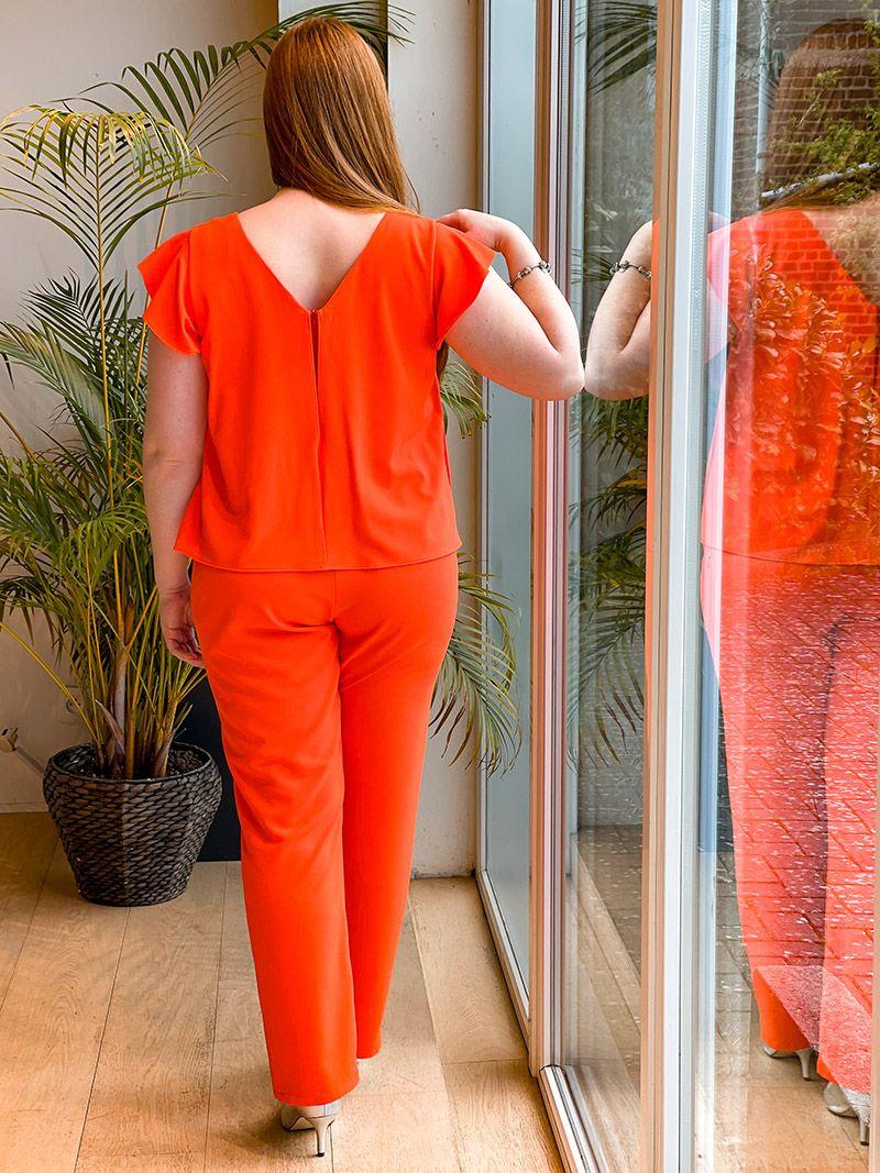Combinaison fluide manche courte - Orange
