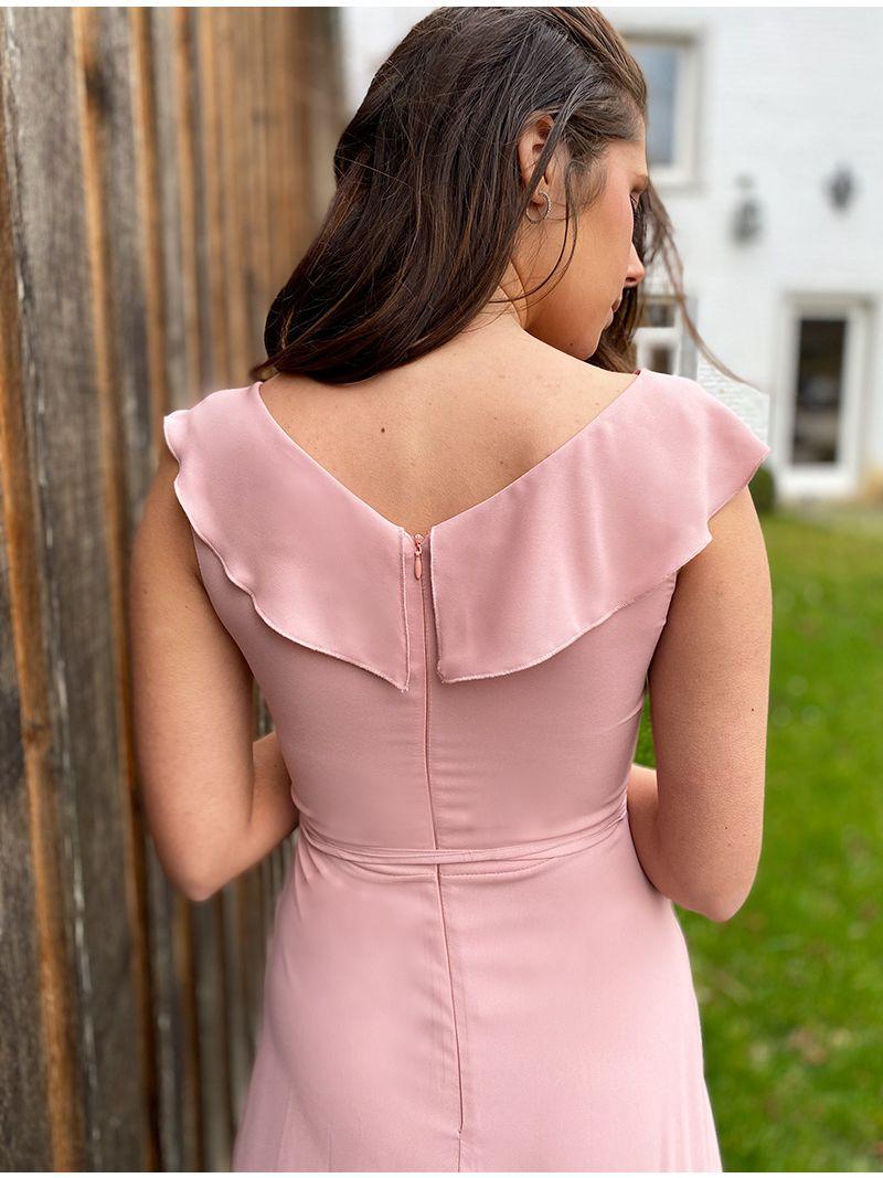 Robe longue en voile - Rose pâle