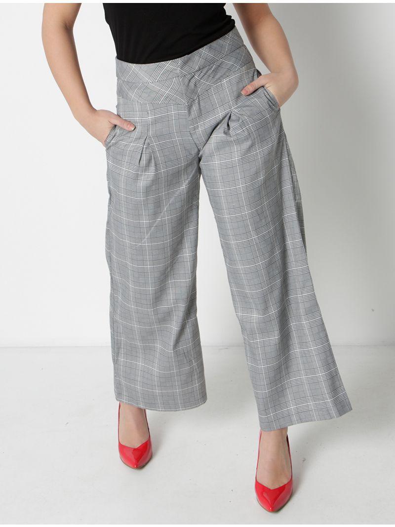 Pantalon ample à carreaux