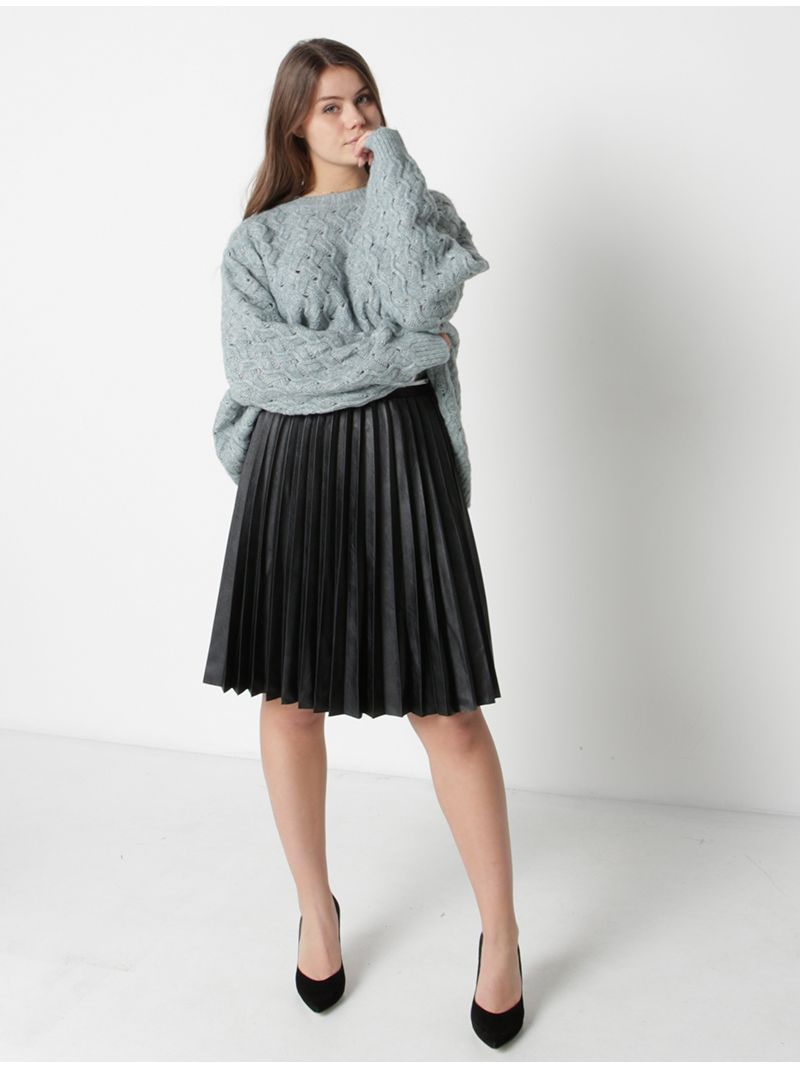 Pull tricot ample