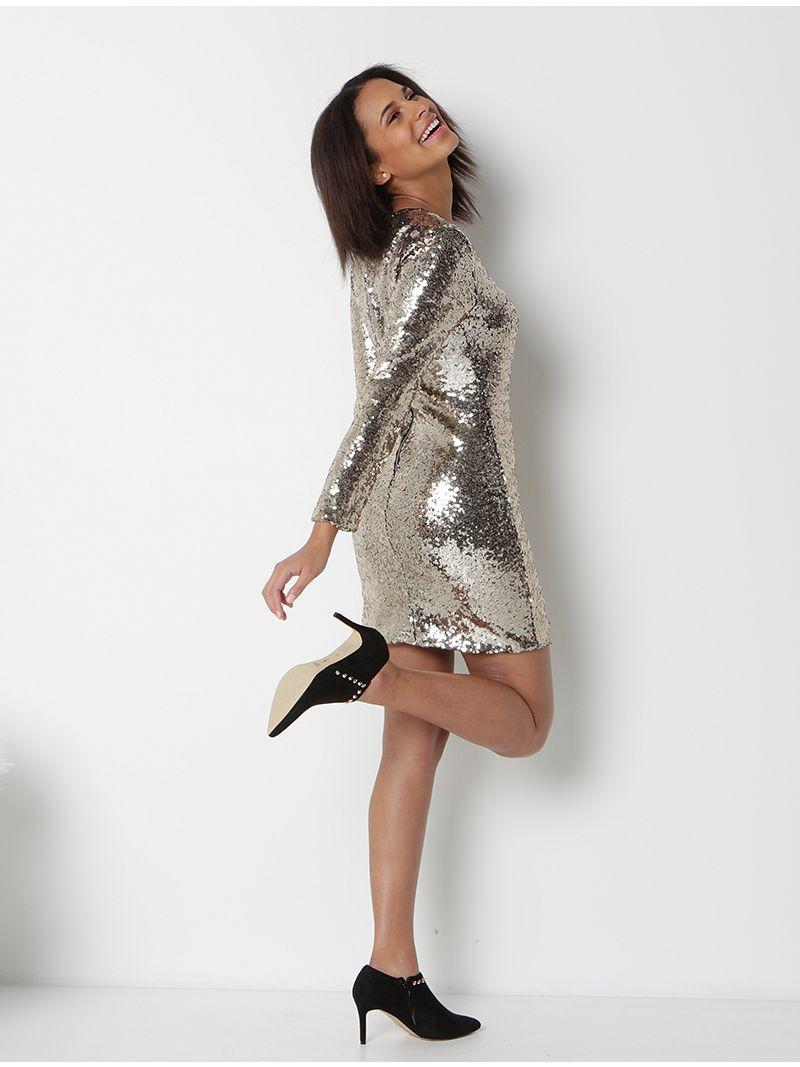 815ba006c10e7f Gouden strakke jurk