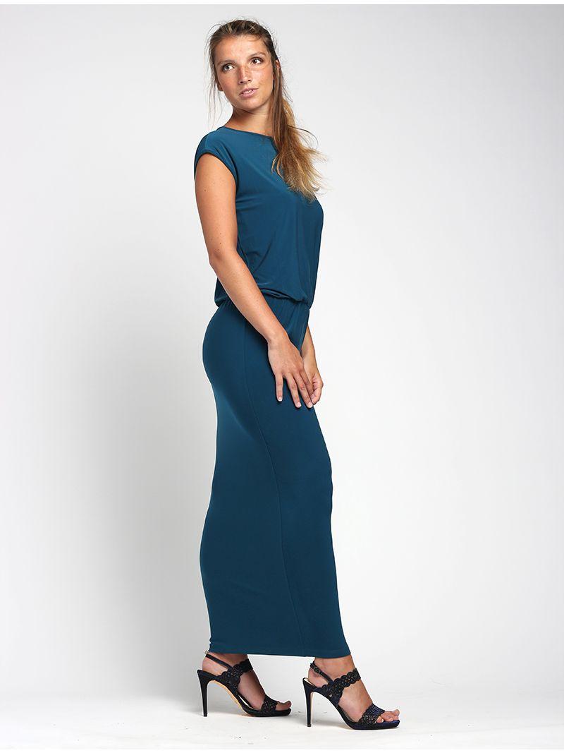 Robe longue élastique à la taille