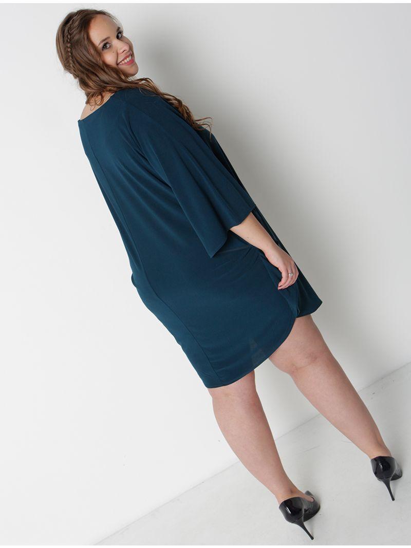 Robe courte manches amples - bleu