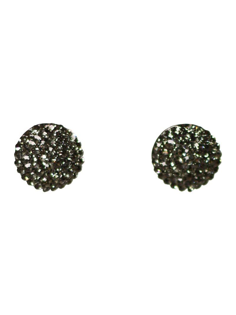 Boucles d'oreilles rondes en cristaux naturels