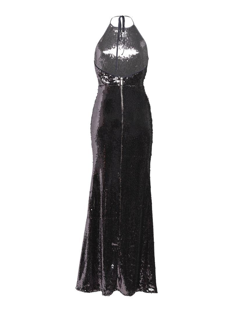 Robe longue en strass