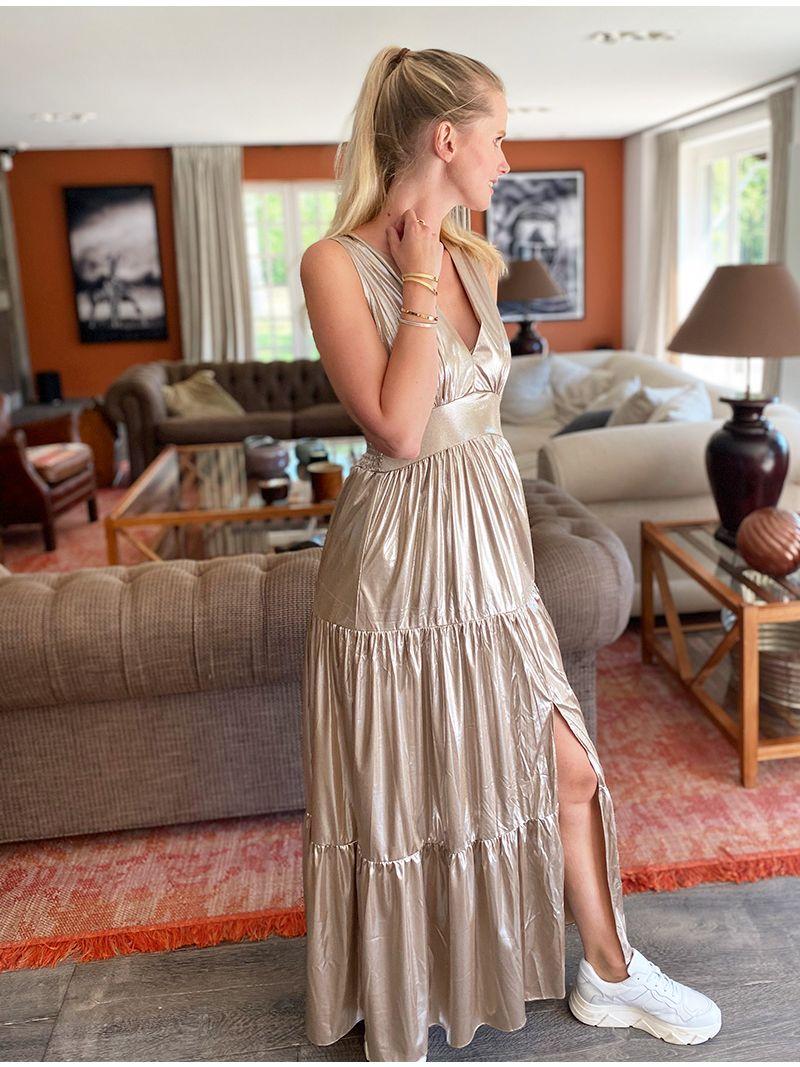 Robe longue irisée - Rose