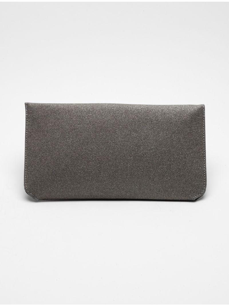 Pochette rectangulaire plate strass