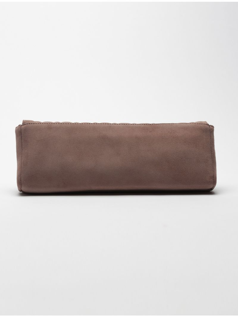 Pochette rectangle longue daim