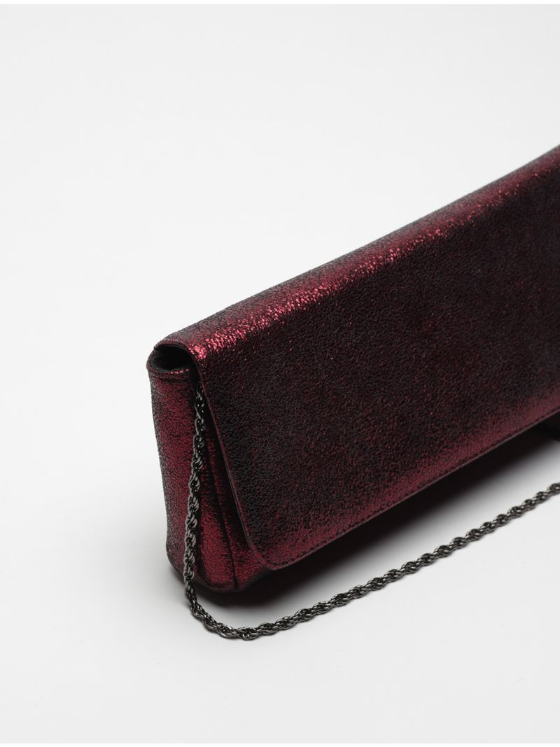 Pochette rectangle longue brillante