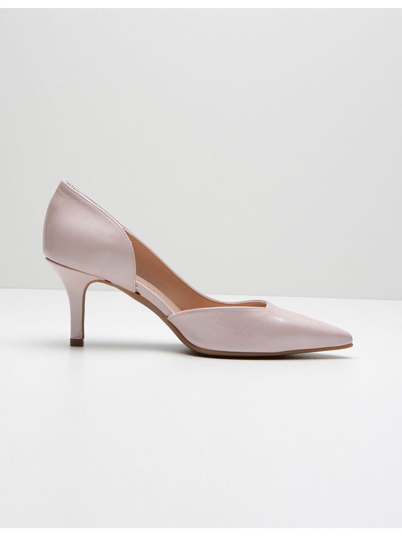 Escarpins vernis à talons aiguilles - rose pâle