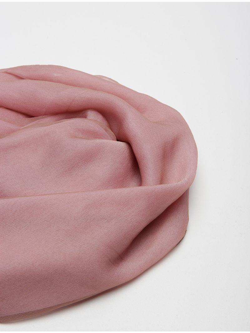 Étole en soie rose et beige