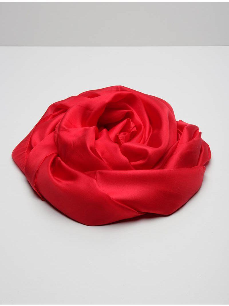 Étole délicate en soie rouge