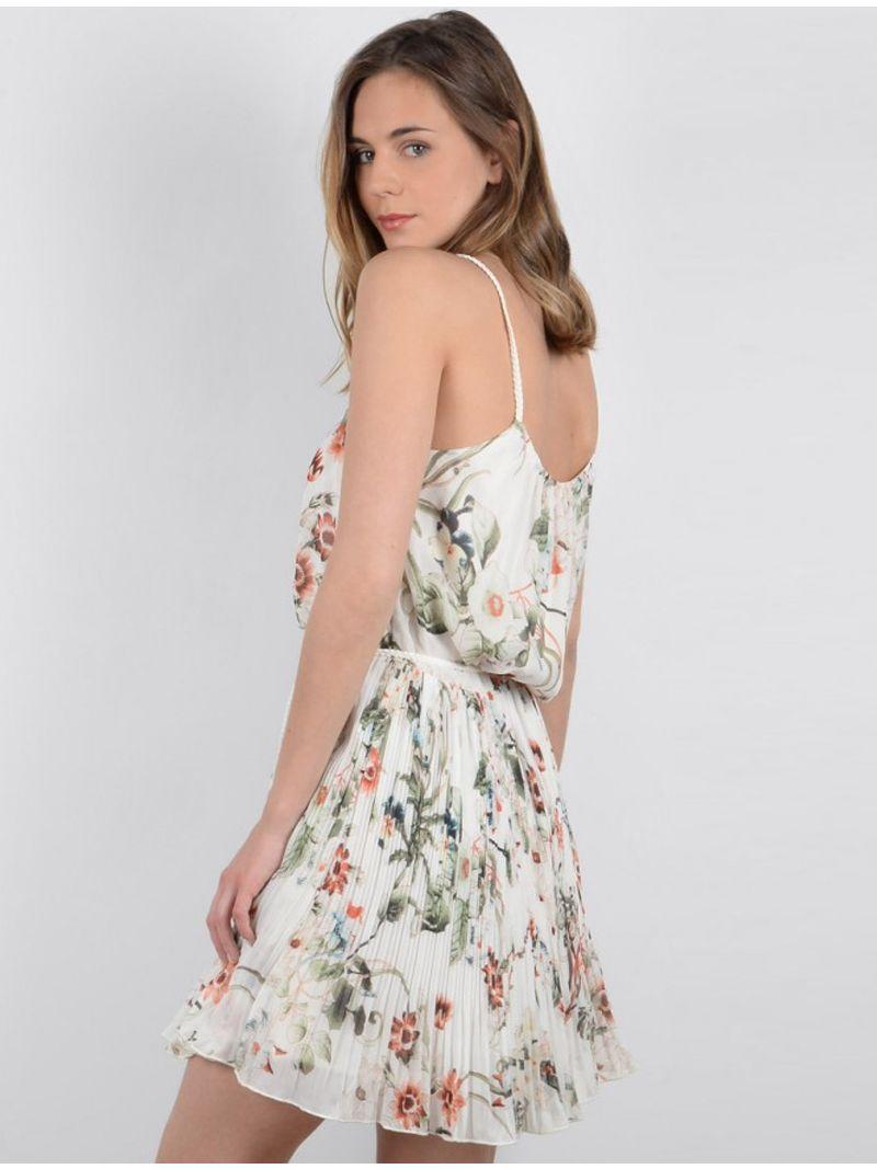 Robe courte légère à motifs floraux