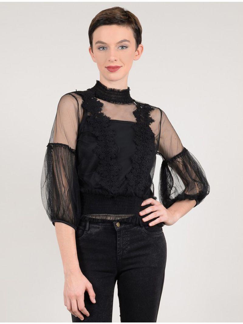 doorzichtige blouse