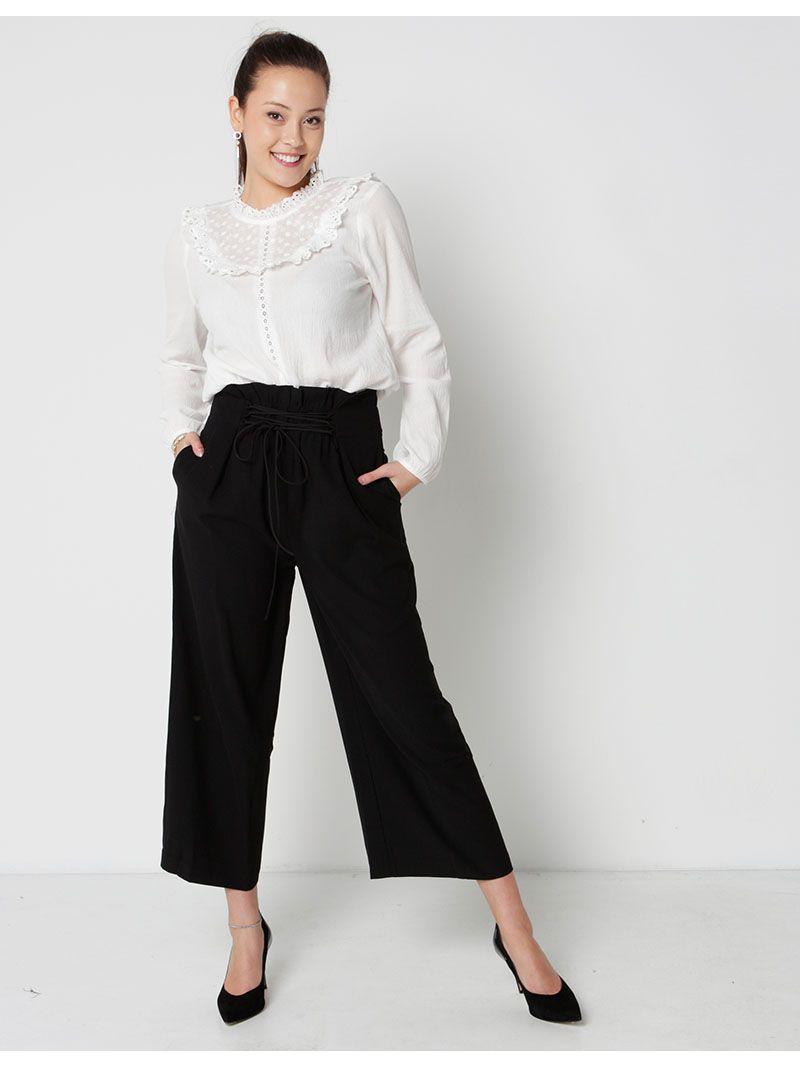 Pantalon ample - noir