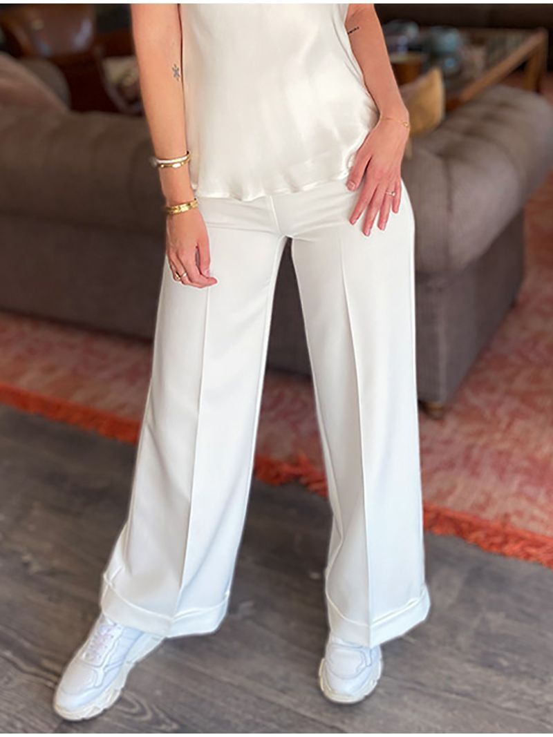 Pantalon Carla Montanarini - Blanc