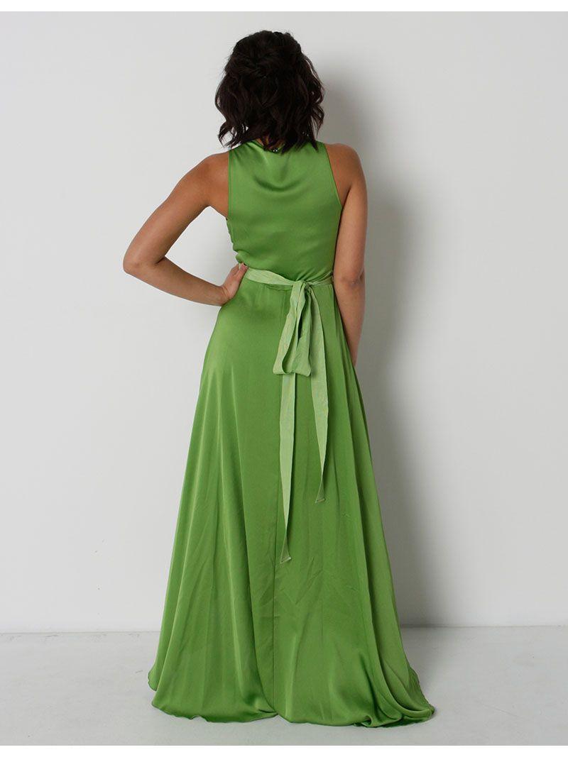 Robe cache-coeur asymétrique - vert