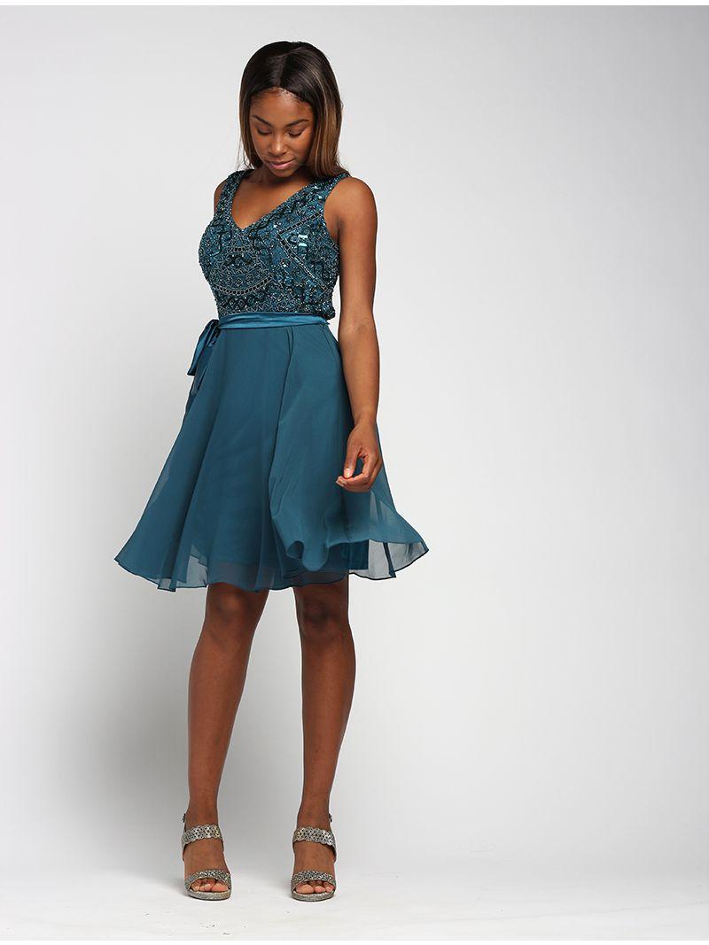 jurk uitlopende rok