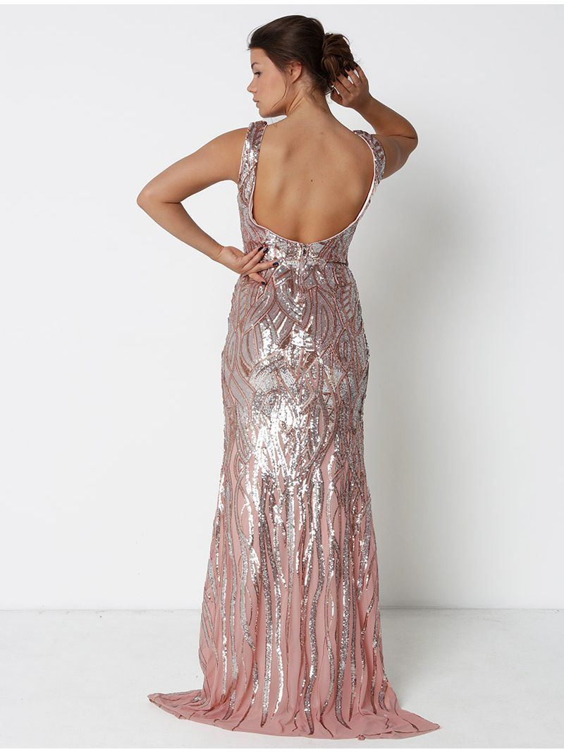 Robe à sequin - rose