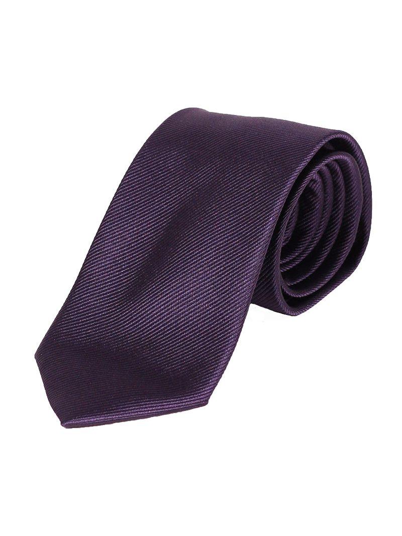 14af12222ee4a Cravate en soie striée mauve   Anne Sophie
